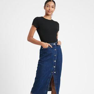 NWT Banana Republic Button Front Denim Skirt